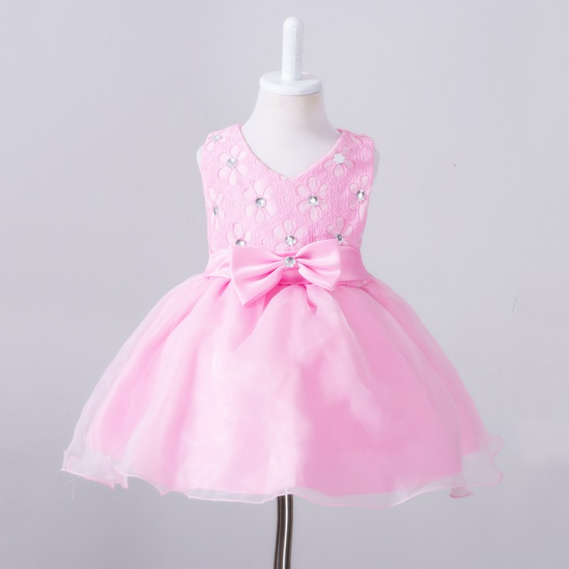 Summer Toddler Baby Girl Infant Girl Bow Evening Dress Princess ...