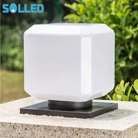 SOLLED Solar Power Lights, Outdoor Garden Fence Post Light, Waterproof Column Pillar Lantern Wall Lamp