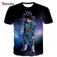 Men's T shirt 3D Print Dragon Ball Z Super Saiyan Black Goku Graphic Tee Anime Casual Tee Shirts Summer Cartoon DBZ Tops cartoon figure print tee