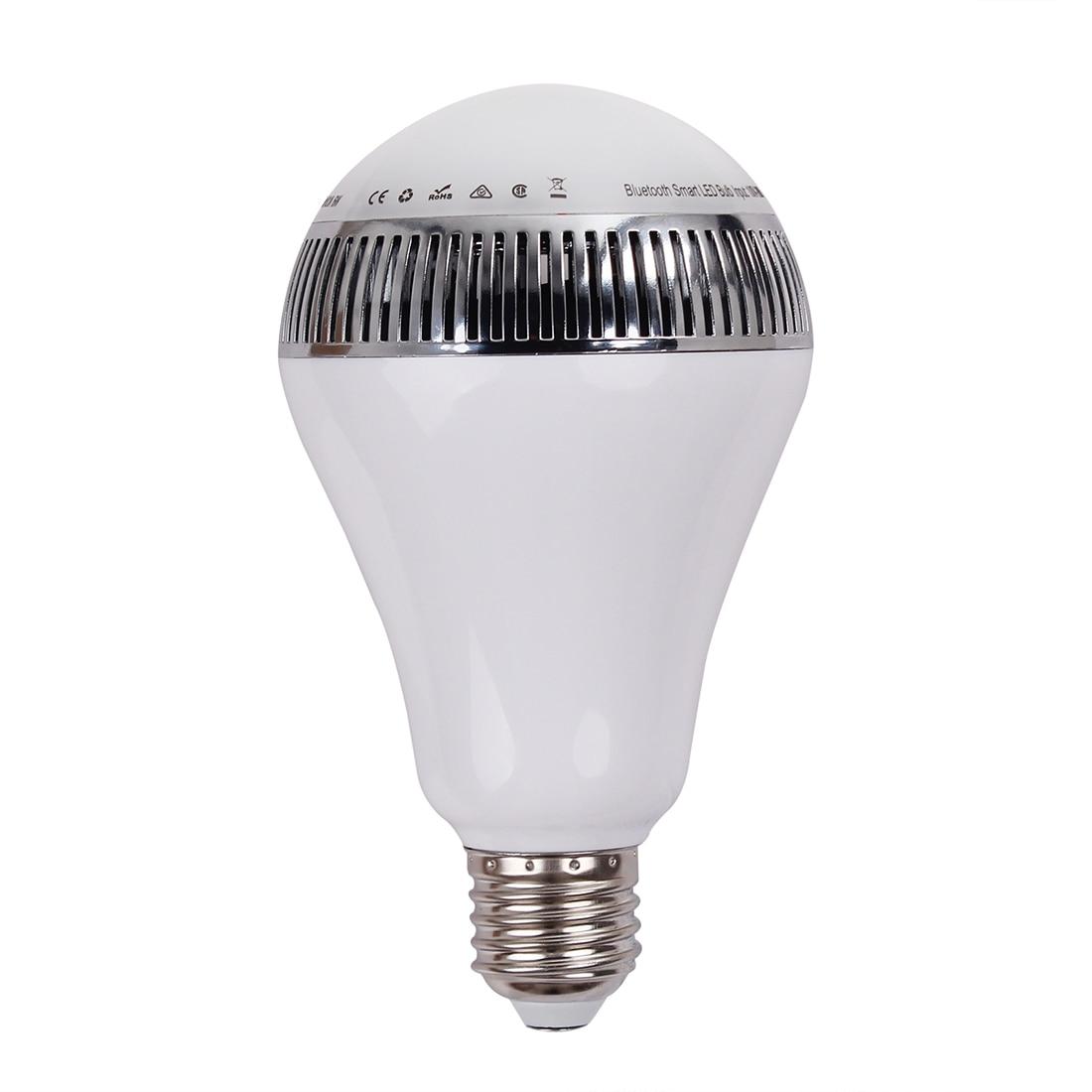 Wireless Bluetooth Speaker E27 LED RGB Light Music Bulb Lamp APP Control Color Change led rgb bulb lamp app remote control e27 speaker bluetooth 4 0 music led night light