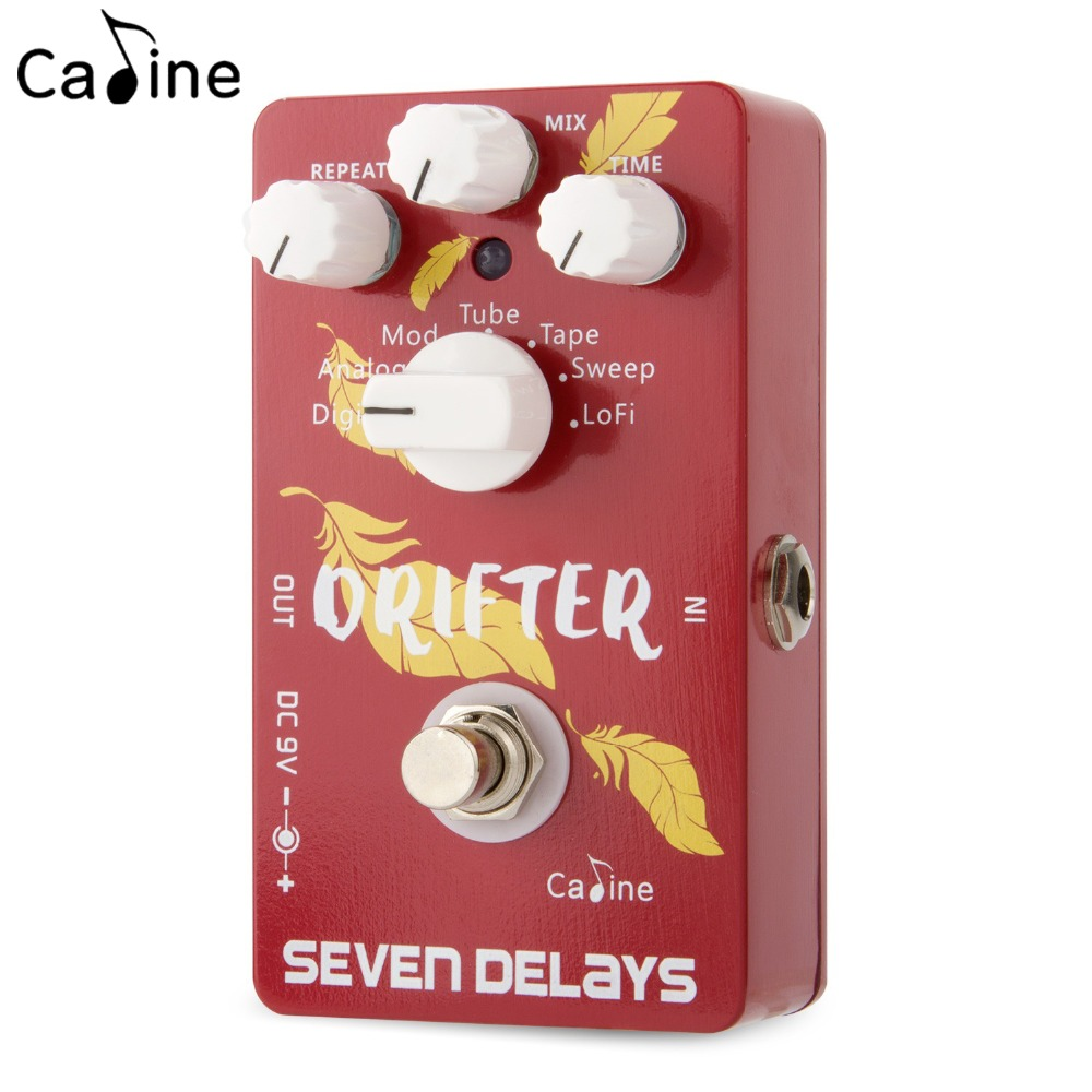 Caline CP-37 Seven Delays Guitar Effects Pedals Digital and Analogue True Bypass Aluminum Alloy Guitarra Accessaries nematode parasite infesting lizard and their physiological effects
