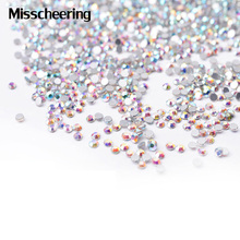 SS4 Crystal AB Nail Art Rhinestones, 1440pcs/lot Flat Back Non Hotfix Glue On Nail Accessories,3d DIY Nail Decoration Tools