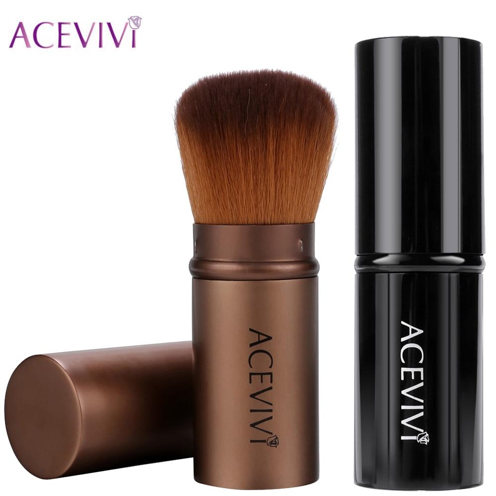 ACEVIVI Retractable Kabuki Brush Concealer Foundation Blending Blusher Face Powder Bronzer Brush Make up Cosmetic Tools zoeva 142 concealer buffer face brush maquiagem make up brush concealer brush