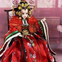 35 см Коллекционная китайские куклы императрица у Zetian куклы, украшенное мозаикой из драгоценных камней, 12 подвижные суставы 3D реалистичные г