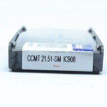 CCMT060204 CCMT09T304 SM IC907/IC908 Iscar внутренние токарные инструменты твердосплавные вставки токарный резак инструмент