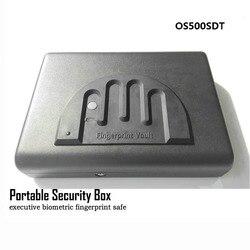 Caja de Seguridad portátil con huella digital, cerradura de seguridad de acero sólido para llaves, cajas fuertes para dinero, joyas, caja para pistola, caja fuerte para Mini coche OS500SDT