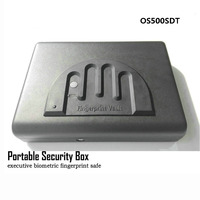 Portable Fingerprint Safe Box Solid Steel Security Key Lock Safes For Money Valuables Jewelry Pistol Box Mini Car Safe OS500SDT