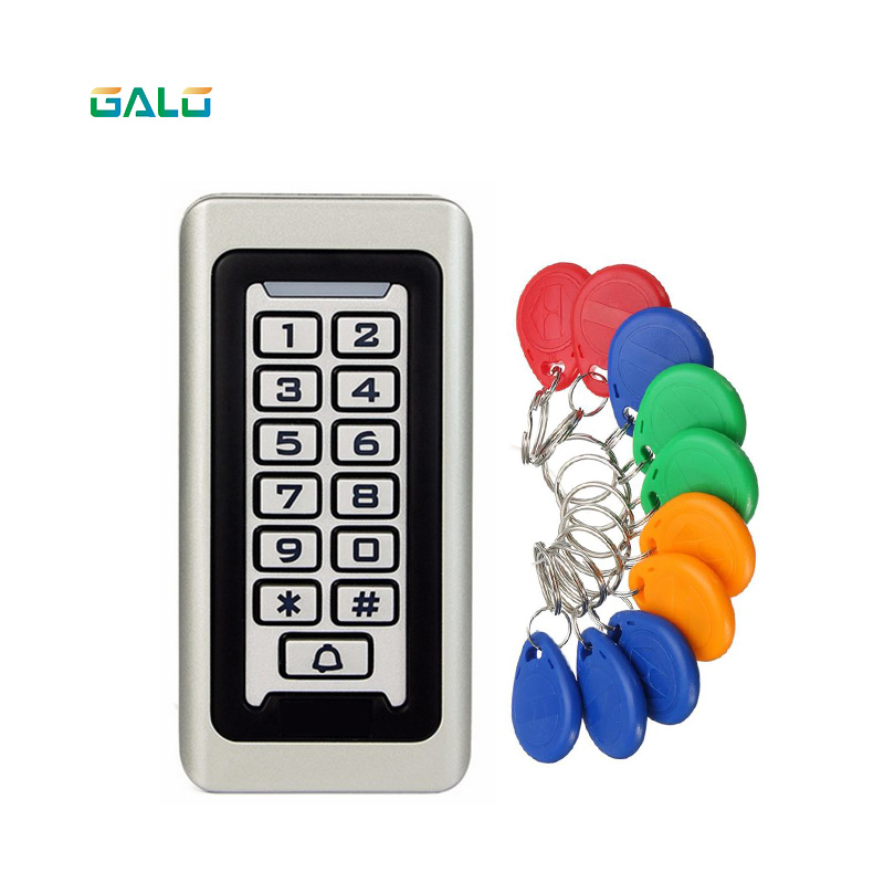 IP68 Waterproof Outdoors Use Metal Stainless steel Reader 2000Users WG input and output security RF Access Control Keypad