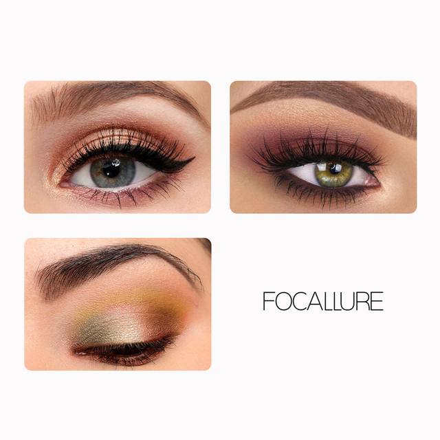 FOCALLURE brand new 4 colors Glitter eyeshadow palette long lasting waterproof eye shadows palette for daily shadows 4