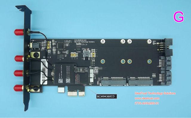 BCM94360CD BCM94331CD Para Adaptador PCIe 1x BT4.0 Para PCI-E 1X cartão De som De Áudio USB SSD suporte mac os para o Hackintosh