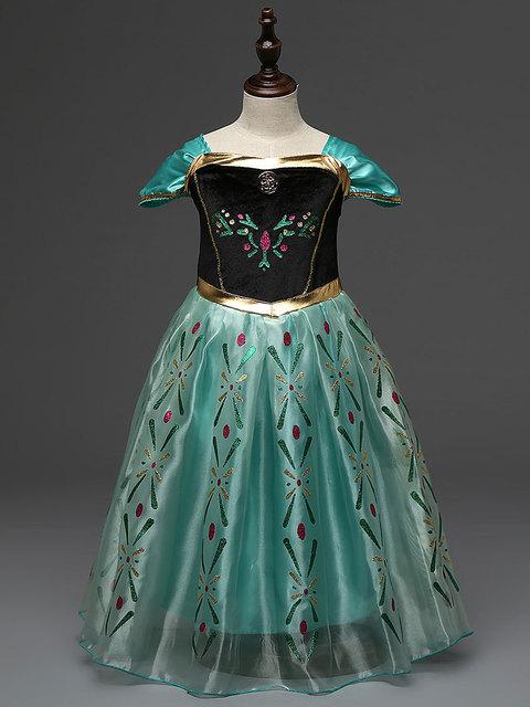 Niños niñas niño princesa trajes karneval carnaval vestido de anna