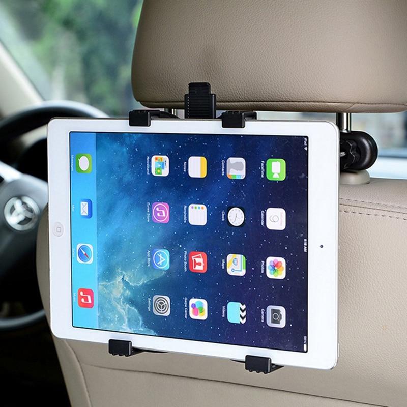 360 graus encosto de cabeça do carro de volta suporte de montagem para ipad 2 3 4 air ipad mini 1/2/3/4 tablet para samsung xiaomi tablet pc stands