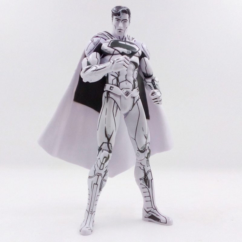 где купить DC Comics Super Hero Superman Action Figure Line Drawing Blueline Edition Toy 16cm по лучшей цене