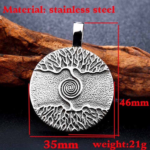 Nordic Vikings Runes Amulet Pendant Necklace The Tree of Life 1