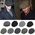 Fashion British Unisex Octagonal Cap Newsboy Beret Hat Vintage Autumn Winter Strip Beret Cap For Men Male Ourdoor Casual Cap