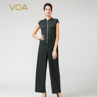 Voa 2018 сезон: весна–лето Новый Армейский зеленый плюс Размеры свободные промышленные Комбинезоны для женщин Краткое Однотонная повседневна