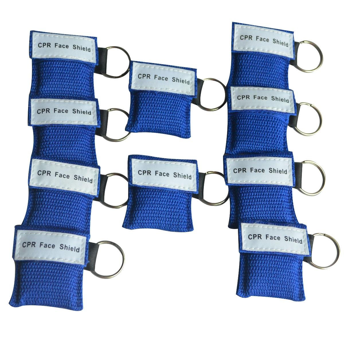 850 шт. маска для искусственного дыхания при реанимации защитный экран CPR односторонний клапан с кольцом для ключей аварийно спасательная Пе