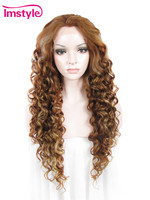 Miód Imstyle Kręcone Syntetyczne popiołu Blond Mieszane Kolor 26