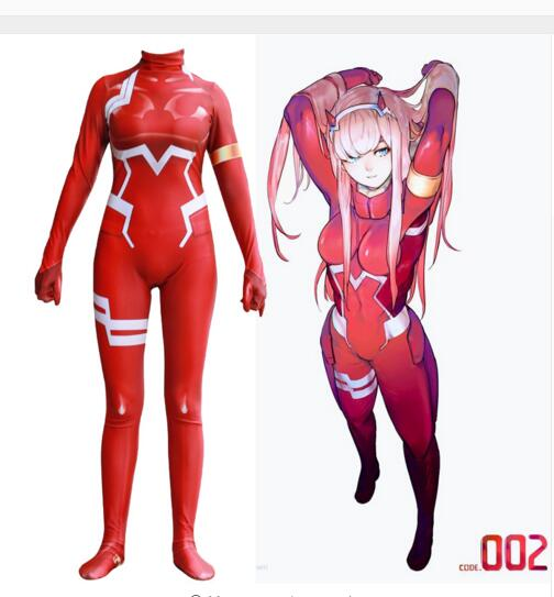 New Darling in the Franxx Cosplay Costume Anime Zero Two 3D Printed Zentai Catsuit Bodysuit Jumpsuits Long Sleeve Drop Ship