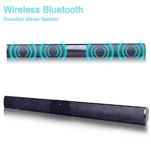 Image 2 - 20W Home TV Speaker Wireless Bluetooth Speaker Soundbar Sound Bar Sound System Bass Stereo Music Player Boom Box with FM Radio