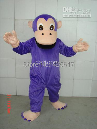 Hot Selling New Funny Purple Gorilla Orangutan Cartoon Fancy Dress