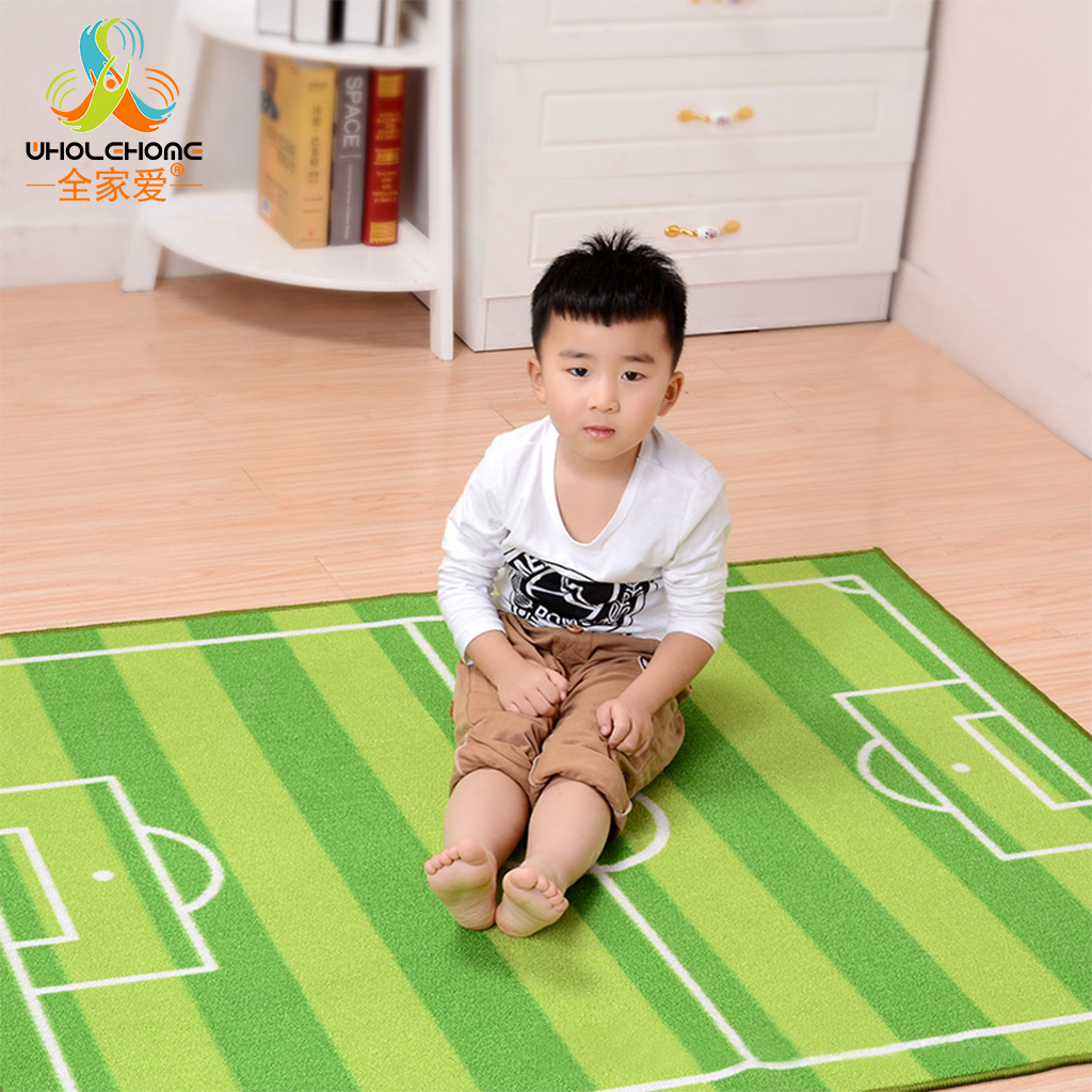 1PCS 100x130cm Children Football Field Gate Carpet Jogging Football Training Kids Baby Play Mat Living Room Bedroom Rug Blanket