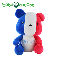 Bebecocoon New Kawaii National Flag Bear Plush Sweet France Flag Cute Design Lovely Stuffed New Kid