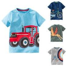 Одежда для мальчиков, топы с короткими рукавами и рисунком, футболка, детская одежда для мальчиков, Детская летняя одежда, 15