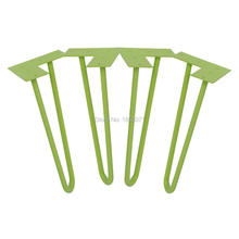 "12"" hairpin legs - green - 1/2"" steel rod - set of 4 - Coffee Table Legs, bedroom furniture china(China)"