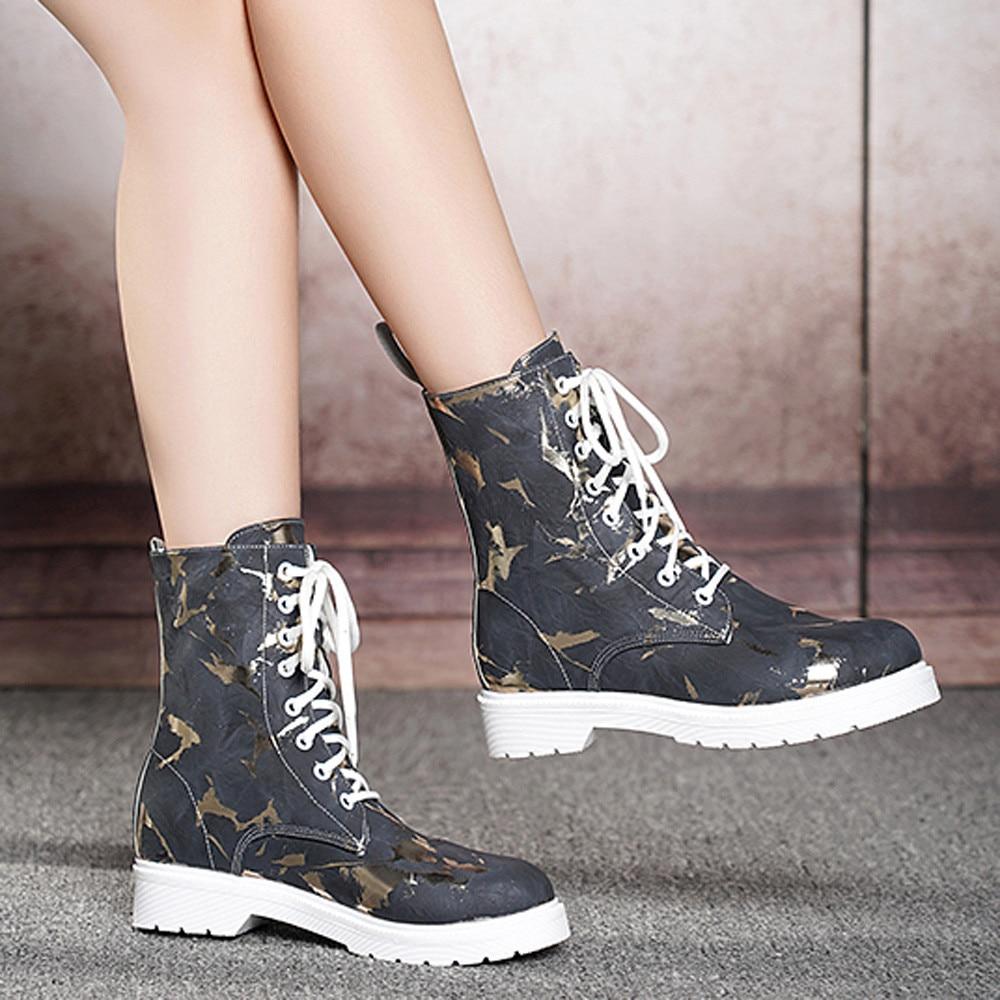 Mantener Caliente up Cuero gray Toe Tobillo Para Moda De Tacón Lace Mujer  Black Mujeres Zapatos 20181011 Cuadrado Martain Redonda Botas On8wzCBqn fc6f44226ece