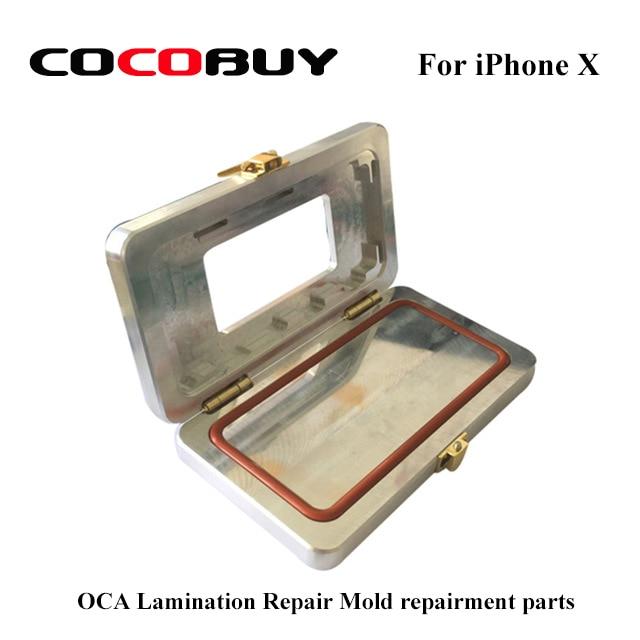 1 Pcs For iPhone X LCD Frame Bezel Glue Dispensing Metal Mold Used for Dispenser OCA Lamination Repair Mold repairment parts