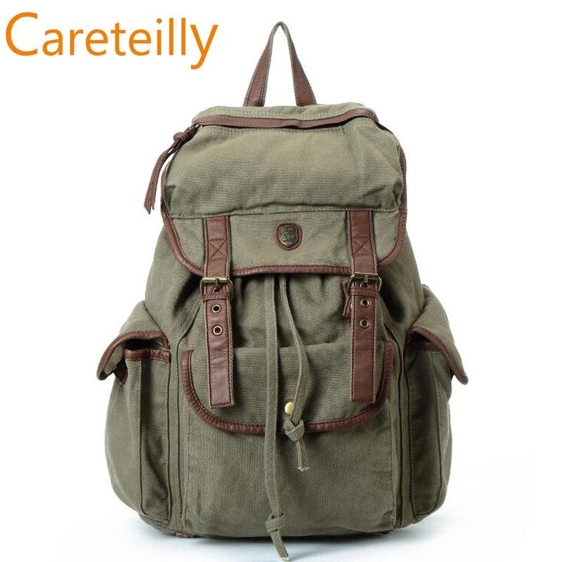 Sac à dos en toile, sac à dos Vintage en cuir, sac à dos décontracté unisexe, sac d'alpinisme pour hommes