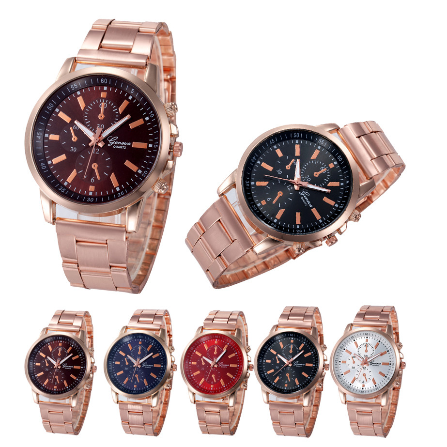 Watches Women Luxury Rose Gold...
