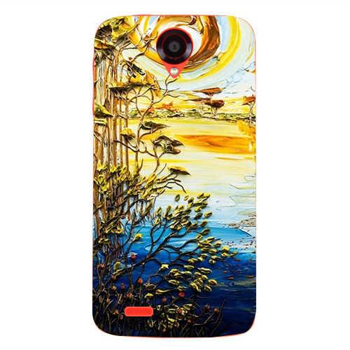 Cubierta de lujo del Coque de la pintura para Lenovo S650 S658T colorido lindo dibujo teléfono cubierta trasera Ultra delgada funda protectora s658t