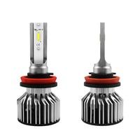 2019 New S6 Car LED Headlight H8 HiLo Beam H9 H11 COB LED 60W 7600LM Auto Headlight Bulb Lamp Fog Light 1Pair
