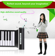 61 key MIDI keyboard digital piano/synthesizer electronic piano/silicone roll up piano keyboard musical instrument