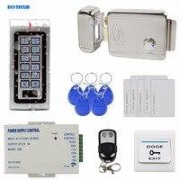 Waterproof Complete 125KHz RFID Metal Keypad Access Control System Kit Set Electric Door Lock RFID Cards