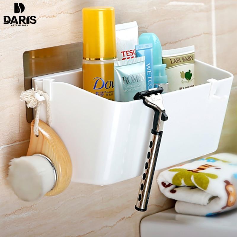 sdarisb stickers large plastic walls bathroom shelf storage basket with hooks shower bathroom