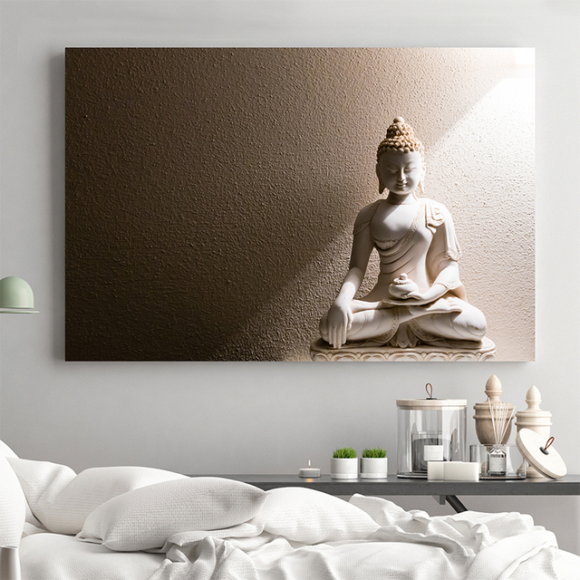 Hot sell one piece of Wall art canvas painting picture large buddha ...