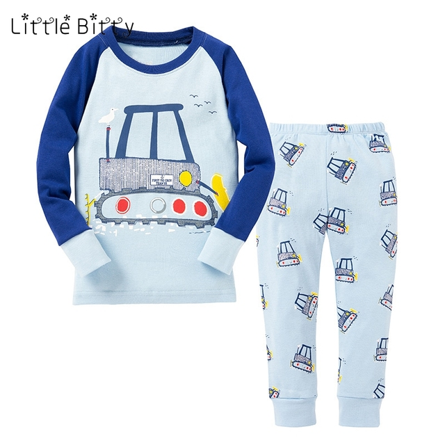 46d8105cbe17 New Full Sleeve Boys Car Pajamas Children Unicornio Sleepwear Baby ...