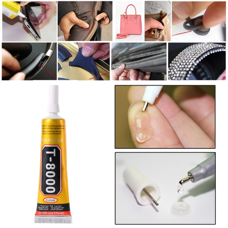 T8000 Multi purpose Adhesive glass touch screen LCD panel frame fixing glue 15/50/110ml