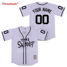 5597b0ef02f Throwback Jersey Men's The Sandlot Jersey Movie Baseball Jerseys Customized  Shirt Any Name Number Colour White Size S-XXXL Cheap