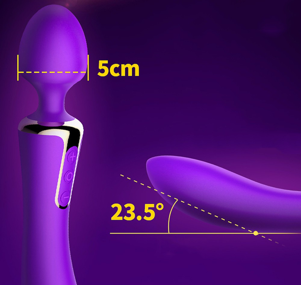 Leten Rechargeable AV Sex Toys Dual Function Intelligent Heating Silicone Body Massage Vibrators For Women Magic Wand Massager 7