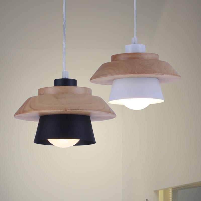 LFH Nordic Wood Aluminum Pendant Lights Lampshade Industrial Lighting Loft Lamparas Pendant Lamp E27 Base Light FixturesLFH Nordic Wood Aluminum Pendant Lights Lampshade Industrial Lighting Loft Lamparas Pendant Lamp E27 Base Light Fixtures