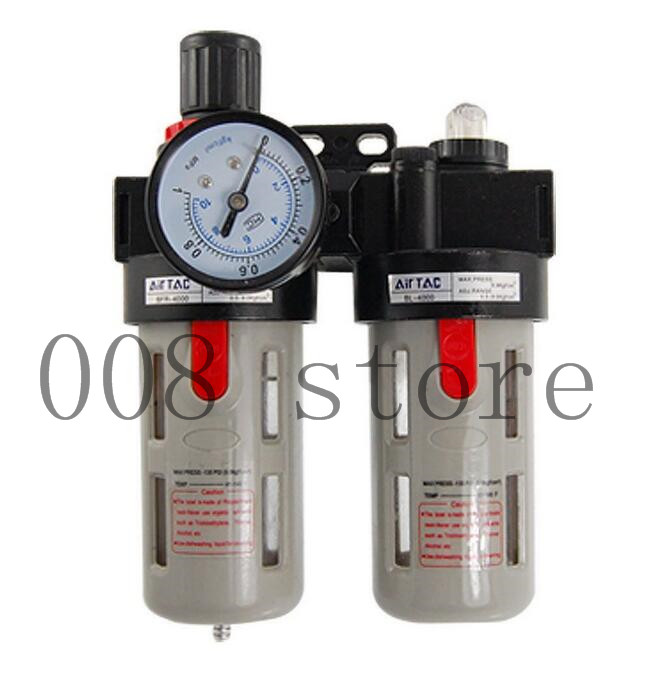 BFC2000 Free Shipping 1/4 Air Filter Regulator Combination Lubricator ,FRL Two Union Treatment free shipping g3 4 size ac series frl air combination kit ac5010 06 two units 5pcs per lot