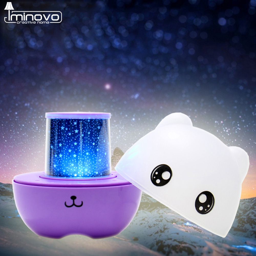 IMINOVO Star Projector Lamps For Speakers/Lamp Romantic Gift Remote Control Night Light Lamps For Children Novelty Decoration