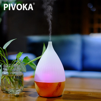 PIVOKA Electric Difusor De Aroma Essential Oil Ultrasonic Air Humidificador Wood Grain Essential Oil Cool Mist