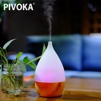 PIVOKA Electric Difusor De Aroma Essential Oil Ultrasonic Air Humidificador Wood Grain Essential Oil Cool Mist