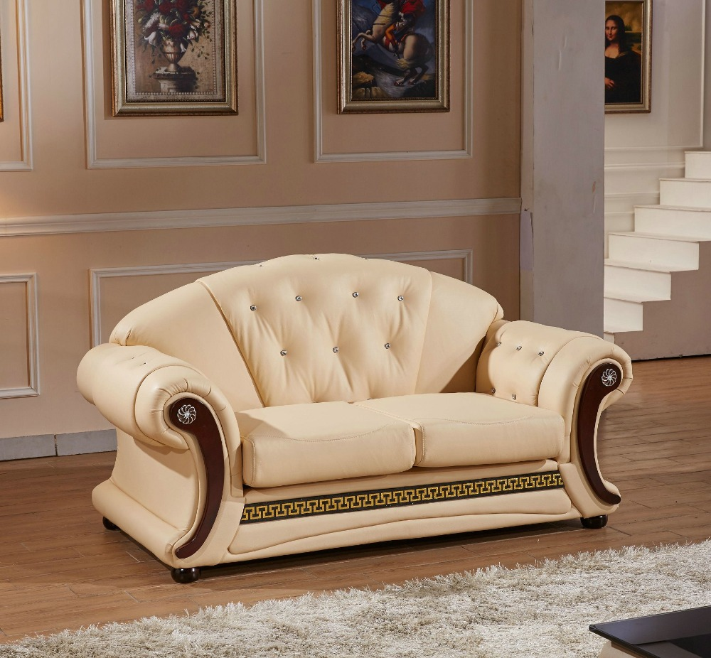 2016 Real Hot Sale European Style Armchair Chaise Beanbag Good Quality Cheap Price Sofa Lounge Couch European Classic Leather Best Sofa Set
