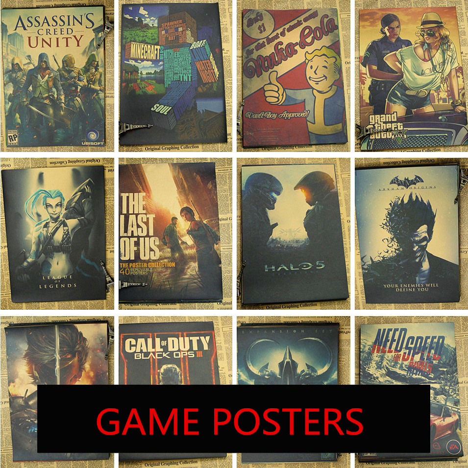 Fallot Posters Games Posters cafes wallpaper decorative painting vintage styles Brand Posters